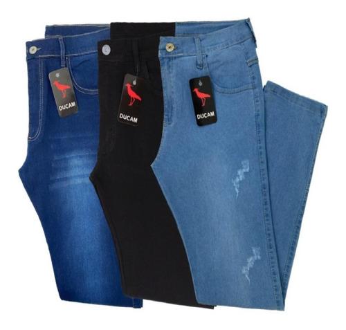 Kit 3 Calça Jeans Masculina Original Slim