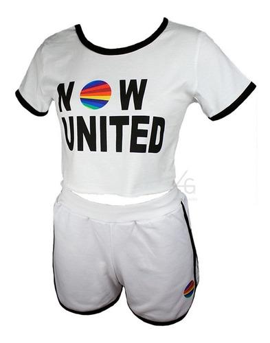 Conjunto Now United Infantil E Juvenil Shorts Pop Music