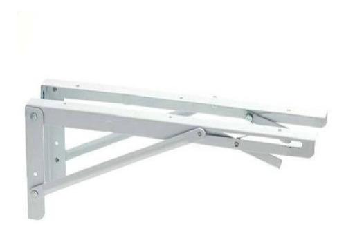 Suporte Dobrável P/ Mesas E Prateleiras 40cm Branco