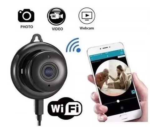 Micro Câmera Ip Mini Espiã Wi-fi Hd Visão Noturna Som Alarme