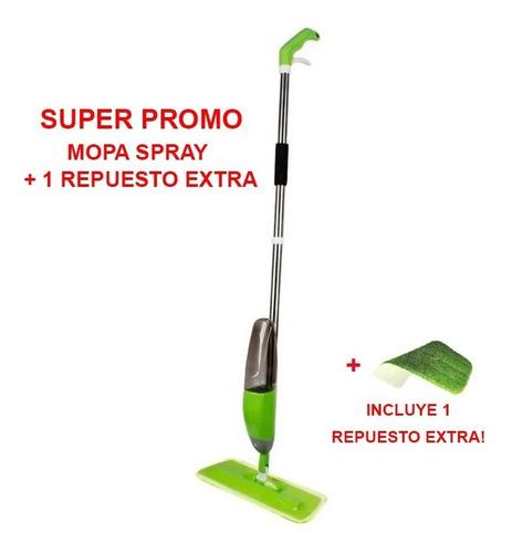 Mopa Spray Piso Exclusivo Rociador Delhi + 1 Repuesto Extra!