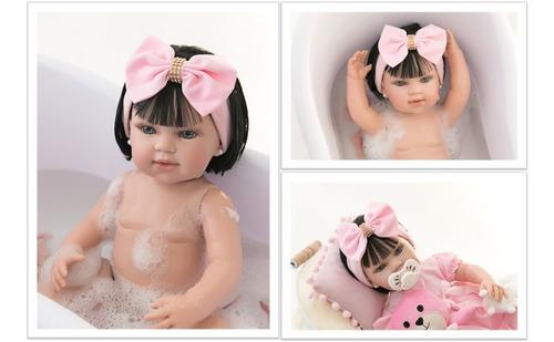 Bebê Reborn Original  Menina Meu Xodó 100% Silicone Banho