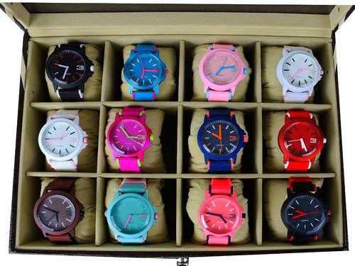 Kit 10 Relógios Feminino Esportivo Atacado+caixa De Acrílico