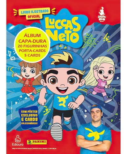 Álbum Figurinhas Luccas Neto + 20 Figurinhas + Capa Dura