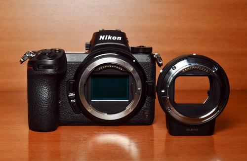 Nikon Z7 Mirrorless Cor Preto - 1500cliks - C/ Adaptador Ftz