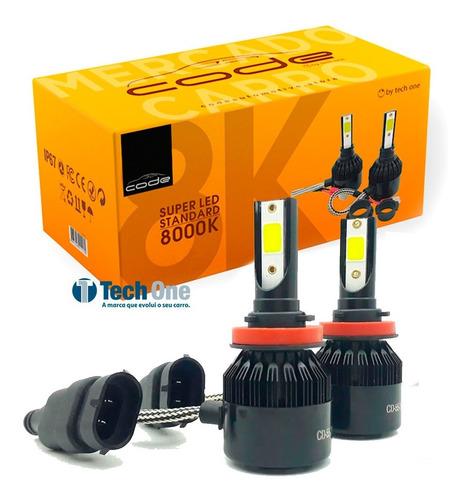 Kit Super Led Techone 8000k 12v 24v H1 H3 H4 H7 H8 H11 Hb4