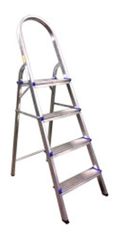 Escada Doméstica De Alumínio 4 Degraus 120 Kg