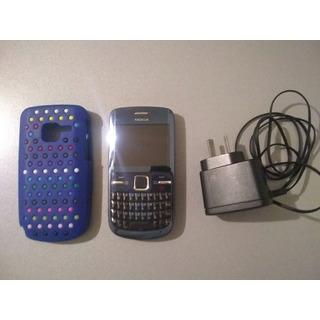 Celular Nokia C3 Para Personal Con Funda Y Cargador