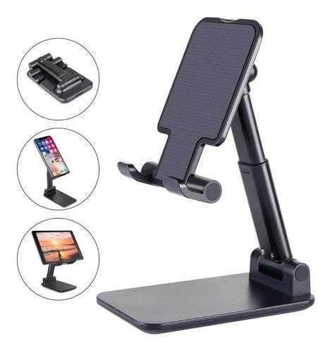 Soporte Base Plegable De Escritorio Para Celular Y Tablet