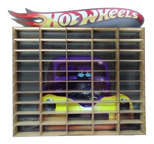Hotwheels Estante Porta Carrinhos Para 50 Und Mdf Adesivado
