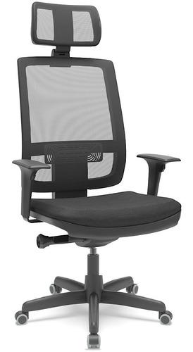 Cadeira Presidente Brizza Autocompensador Braço 3d