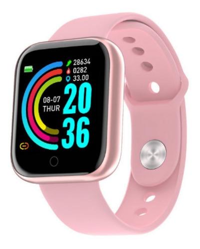 Relógio Inteligente Smartwatch Feminino Rose Oferta Promoção