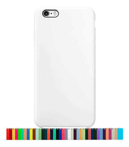 Capa Capinha Silicone Aveludada Compatível Com iPhone 6 E 6s