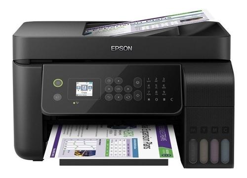 Impresora A Color Multifunción Epson Ecotank L5190 Con Wifi Negra 220v