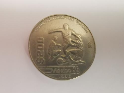 Monedas 200 Pesos Mundial 1986