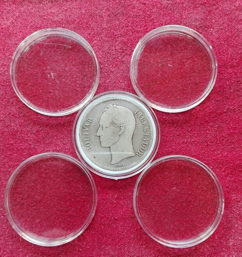 Cápsulas Para Monedas.40 Mms, Paquetex10.