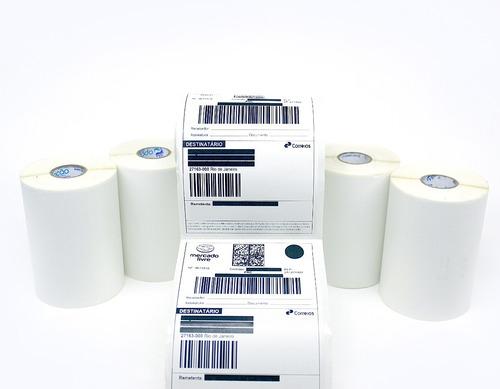 Kit 5 Rolos Etiqueta 10x15 Couche Serrilha E-commerce