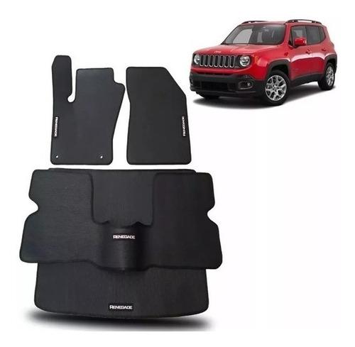 Tapete Borracha Jeep Renegade 3 Peças + Porta-malas