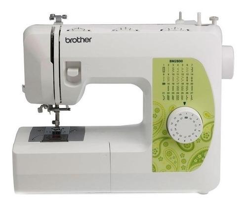 Máquina De Costura Reta Brother Bm2800 Portátil Branca 220v