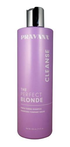 Pravana Perfect Blonde Shampoo Matizante Cabello Rubio/cano