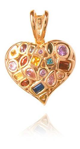 Medalha Cravejada Coração De Mãe Mb 0718-1 -pr
