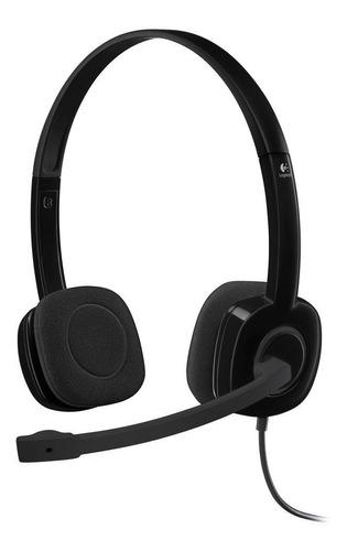 Headset Logitech H151 Estéreo P3 Microfone Fone C/ Red Ruído