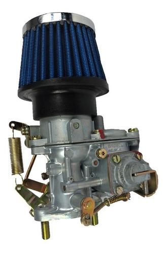 Carburador De Fusca 1500/1600 H-30pic Brosol Solex + Filtro De Ar Esportivo