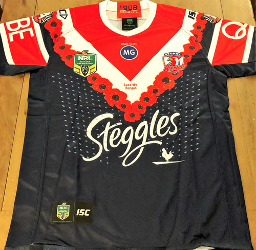 Camisa Sydney Roosters Rugby Numerada Oficial