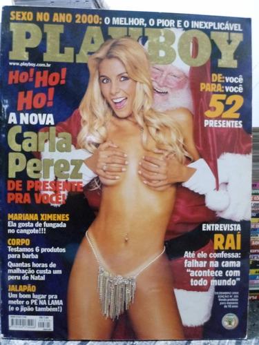Revista Playboy Número 305 Dez 2000  - Carla Perez