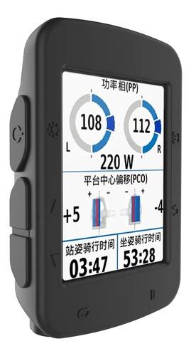 Forro Premium En Silicona Para Garmin Edge 520 Color Negro