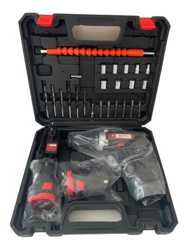 Furadeira Parafusadeira Benttoz 12v C/ 2 Baterias +kit C/ Nf