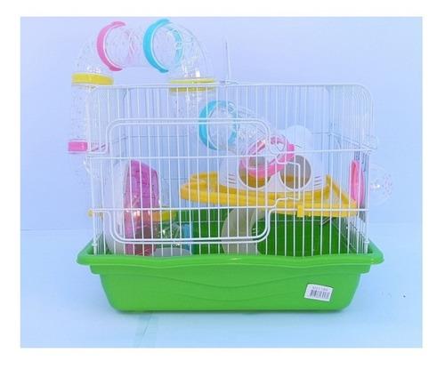 Jaula Para Hamster Casa 2 Entradas 1 Piso Con Tubo