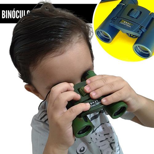 Binóculo Infantil Pequeno Longo Alcance 8x21 Profissional Uv