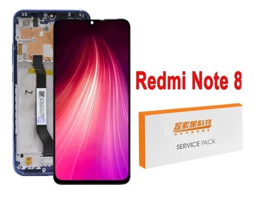 Tela Display Lcd Xiaomi Redmi Note 8 C/moldura Aro Original