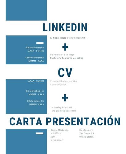 Confección Cv + Carta Presentación + Perfil Linkedin