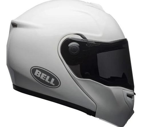 Capacete Bell Srt Modular Gloss White Brinde Motul E11