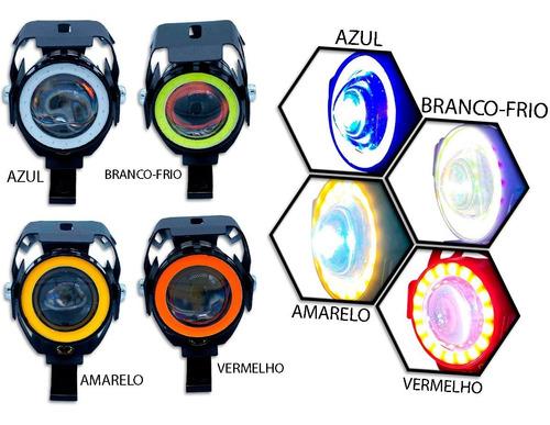 Par Farol Mini Milha Moto Neblina Led U7 Xenon 12v Universal