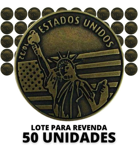 Atacado 50 Unidades - Medalha Copa Do Mundo 2022 Eua