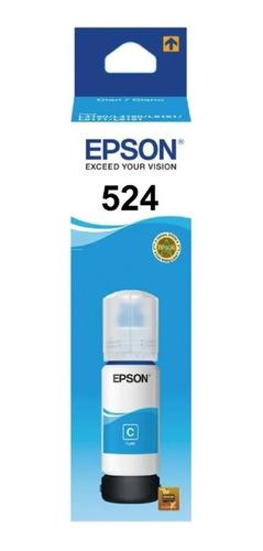 Tinta Epson Cian 524 T524 L6580/l15150/l15160 Original