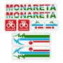 Adesivo Bicicleta Antiga Monareta 1989 89