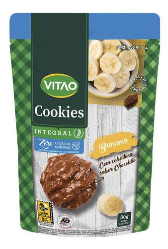Cookie De Banana Com Cobertura De Chocolate Ao Leite Zero