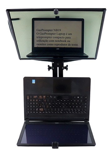 Tele Prompter Para Até 15, 6 Polegadas Para Notebook