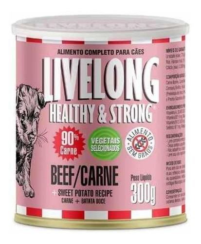 Livelong Cão Sabor Carne Carne 300g Full