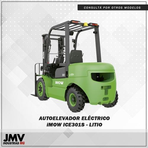 Autoelevador Eléctrico Jmv Ice301 C/ Bateria De Litio 3tn