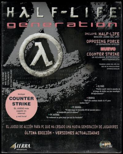 Half Life Generation Pc Original En Caja Sellada. Colección