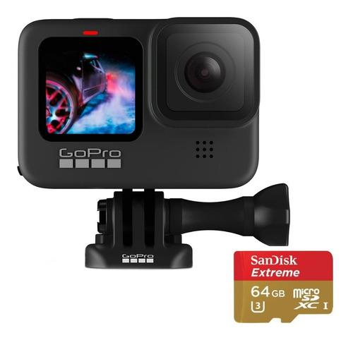 Câmera Digital Gopro Hero 9 Black + Cartão Extreme 64 Gb