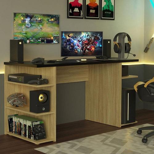 Mesa Para Computador Gamer 9409 Madesa - Carvalho/preto