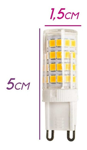 Lâmpada Led G9 5w Branco Quente Ou Branco Frio Bilvot St176