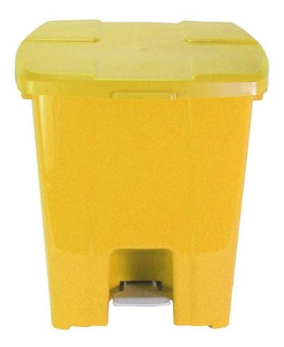 Cesto Com Pedal Todo Em Plástico 30l (p30)
