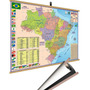 Mapa Brasil Moldura Banner Laminado Gigante 120x90cm